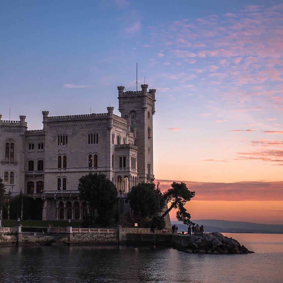 Miramare Castle - Alba Chiara Rent a Motorcycle in Trieste